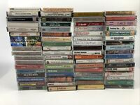 Lot of 70 Mixed Gospel Christian Spiritual Motivational Music Cassette Tapes