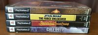 PS2 BUNDLE-STAR WARS:FORCE UNLEASHED/CALL OF DUTY/SHADOW MAN/SPHINX/POC GAMES