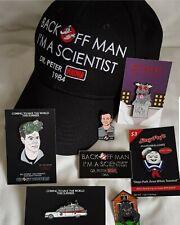 Ghostbusters 1984 Mega Fan retro 80s Enamel pin and baseball cap set