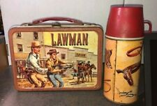 Vintage 1961 Lawman Lunchbox with Thermos