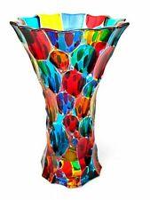 SIGNED & Box/Certificate Amazing Art Glass Pezzato Fazzoletto Vase