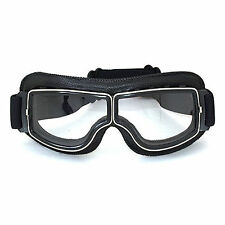 Bike Motocross Off-road ATV Scooter Motorcycle Aviator Goggles Clear Eye Wear US