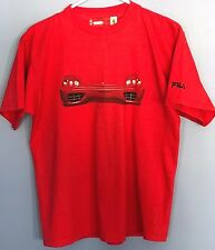 Vintage Fila Scuderia Ferrari Red Double-Sided T-Shirt Men's Small