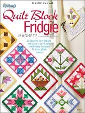 Plastic Canvas Pattern Book QUILT BLOCK FRIDGIE ~ Magnets, Motifs, Ornaments +