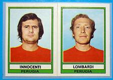 FIGURINA CALCIATORI PANINI 1973/74 INNOCENTI-LOMBARDI-PERUGIA n.500 rec