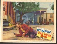 1957 MOVIE LOBBY CARD #2-604 - THE HARD MAN - GUY MADISON