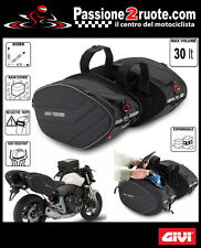 Borse valigie laterali morbide moto scooter GIVI ea101 Saddle bags bike 30 LT