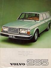 Volvo 265 1976-77 UK Market Leaflet Sales Brochure DL GL 260-Series
