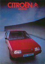 Citroen BX Diesel 19 RD 1984-86 Original UK Sales Brochure Pub. No. K1862