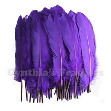 Turkey Feathers, Purple Turkey Round Quill Feathers 6-8 inches 50 pcs