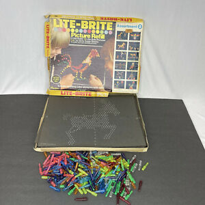 Vintage 1975 Lite Brite Picture Refill Pages and Pegs Hasbro