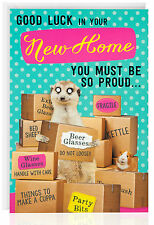 NEW HOME - Funny Humour Joke Greetings Card Meerkat Boxes Moving- OTC5027-1