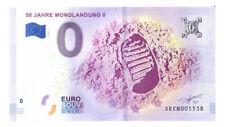 0 Euro Schein 50 Jahre Mondlandung II XECB 2018-2 Souvenirschein Souvenir o Null