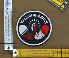 """Ricamata / Embroidered Patch Predator """"You Son of a B.."""" with VELCRO® brand hook"""