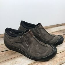 Clarks Privo 37729 Gray/Taupe Leather Suede Waterproof Slip On Loafer Women 10M