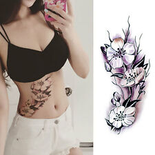 Women Sexy Flower Water Transfer Art Body Temporary Tattoo Sticker Fashion Decor