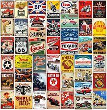 Metal wall signs plaques home Bar mancave vintage retro style garage Automobilia