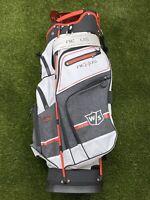 Wilson Staff Nexus 3 Cart Golf Bag White Black Red 14-Way Divide BRAND NEW!!