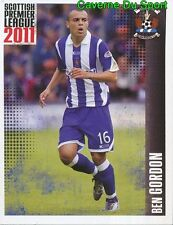 320 ben gordon england kilmarnock. fc sticker scottish premier league 2011 panini