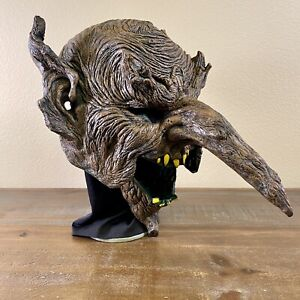Vintage 1998 Retired Paper Magic Group Goblin Troll Scary HALLOWEEN MASK EUC