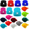 Kids School Winter Beanie Hat Children Girls Boy Boys Knitted Hats Letters A-Z