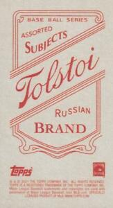 2021 Topps T206 Wave 7 TOLSTOI BACK Cards