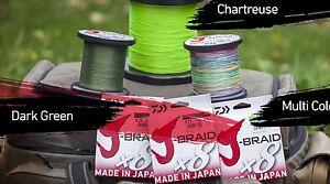 Daiwa J-Braid x8 Fishing Braid Line 3300 Yards- JBraid-Pick Color/Test Free Ship