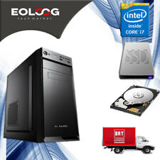 PC FISSO COMPUTER DESKTOP INTEL CORE i7 - RAM 16 GB - SSD 120 HDD 1TB - USB 3.0