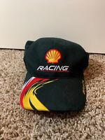 Shell Racing Nascar Baseball Hat Adjustable Used Black