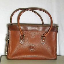 e1705ef52aa1 Vintage Dooney   Bourke TAN Pebble SATCHEL All Weather Leather Handbag Purse