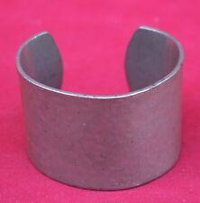 Vintage French Hammered Pewter Cuff Bracelet