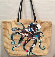 NEW Vera Bradley Seashore Tote Splash Floral Octopus Beach Travel Bag with Tags