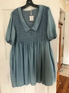 Free People Paige Denim Dress New with Tags Size Medium
