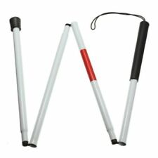 VISUALLY Impaired Crutch Cane Blind Walking Stick Walker Aluminium Easy