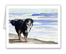 BERNESE MOUNTAIN DOG AT THE BEACH Set of 10 Note Cards With Envelopes