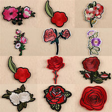 New listing 11X Embroidery Rose Flower Sew Iron on Patch on Badge Bag Jeans Applique CraY S-