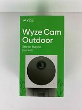 WYZE CAM OUTDOOR Wire-Free Starter Bundle, Security Camera - SEALED