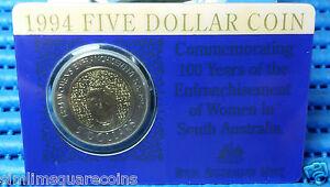 1994 Australia 100 Years of the Enfranchisement of Women $5 Commemorative Coin