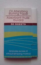 OIL ABSORBING BLOTTING PAPER 50 Sheets ELIMINATES EXCESS OIL w/o REMOVING MAKEUP