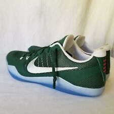 Nike Kobe 11 Size 17.5 Basketball Shoes Green White No Box 856485-331