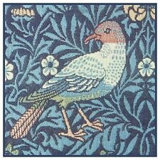 Blue Bird Detail Arts and Crafts William Morris Counted Cross Stitch Pattern