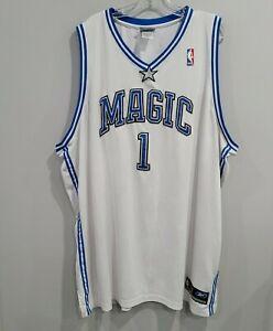 VTG Reebok Authentic Orlando Magic Tracy Mcgrady 1 White Jersey Men 60 4XL Sewn