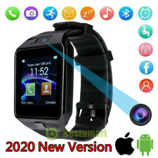 Waterproof Bluetooth Smart Watch W/Cam Phone Mate For IOS Android Black USA
