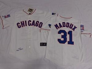 Chicago Cubs Greg Maddux Cooperstown Collection Sewn Jersey WHITE 2XL NEW