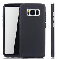 Samsung Galaxy S8 Hülle Case Handy Cover Schutz Etuis Schutzhülle Bumper Schwarz