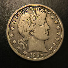 1896 O Barber Liberty Half Dollar Vf Very Fine New Orleans Key Date 50c