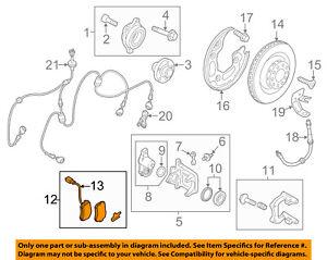 AUDI OEM 11-15 A8 Quattro Brake-Rear Pads 4H0698451L