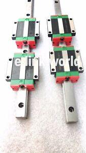 2 set HGR15-600mm Hiwin-Linear Rail & 4 pcs HGW15CC Carriage Block Bearing