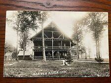 HM Beach RPPC Beaver River Inn, Adirondacks Posted 1923