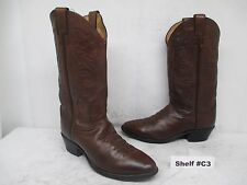 JUSTIN Brown Leather Cowboy Western Boots Mens Size 9 EE Style 1450